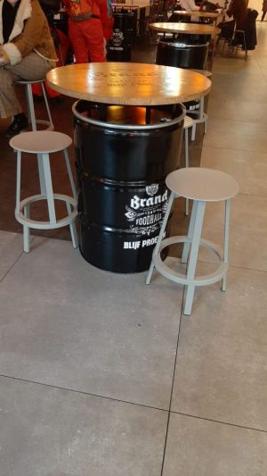 Table RAL + branded pinewood top